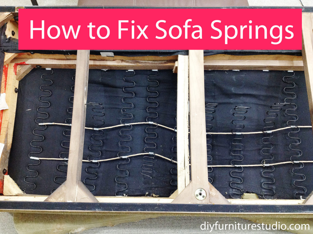 How To Fix The Springs On Saggy Sofa Diy