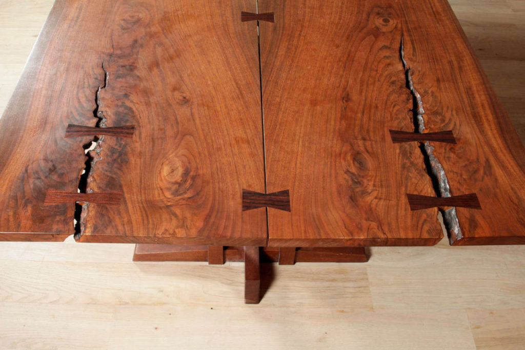 George Nakashima table showing butterfly joints, photo credit 1stdibs