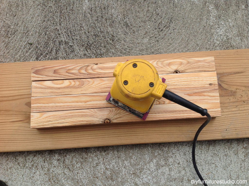 Making a patriotic crate side table.