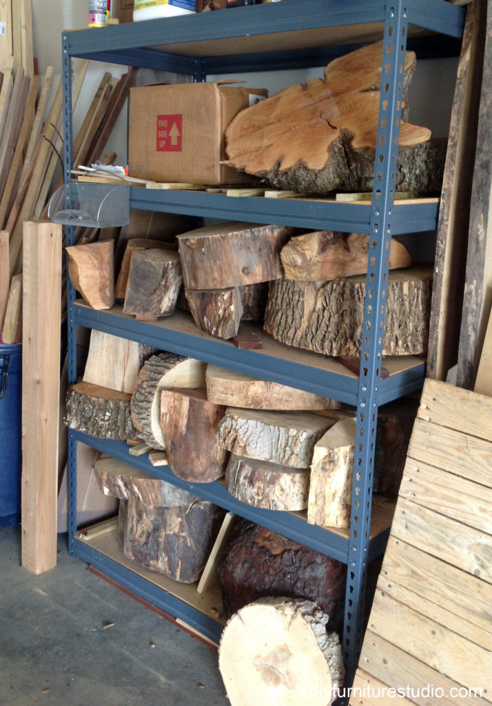 tree stump slices wood for DIy furniture projects