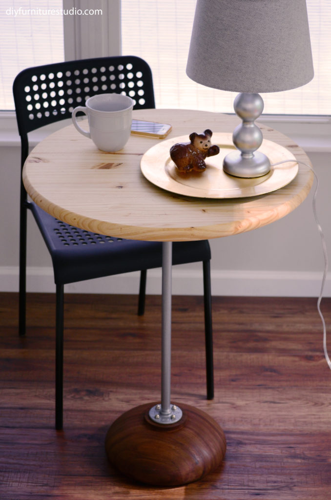 DIY pedestal bistro table furniture project