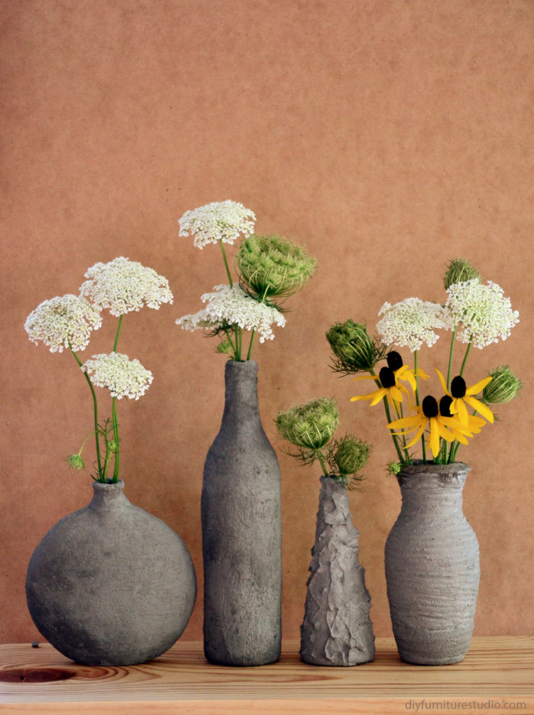 diy concrete cylinder vase craftbnb. Black Bedroom Furniture Sets. Home Design Ideas