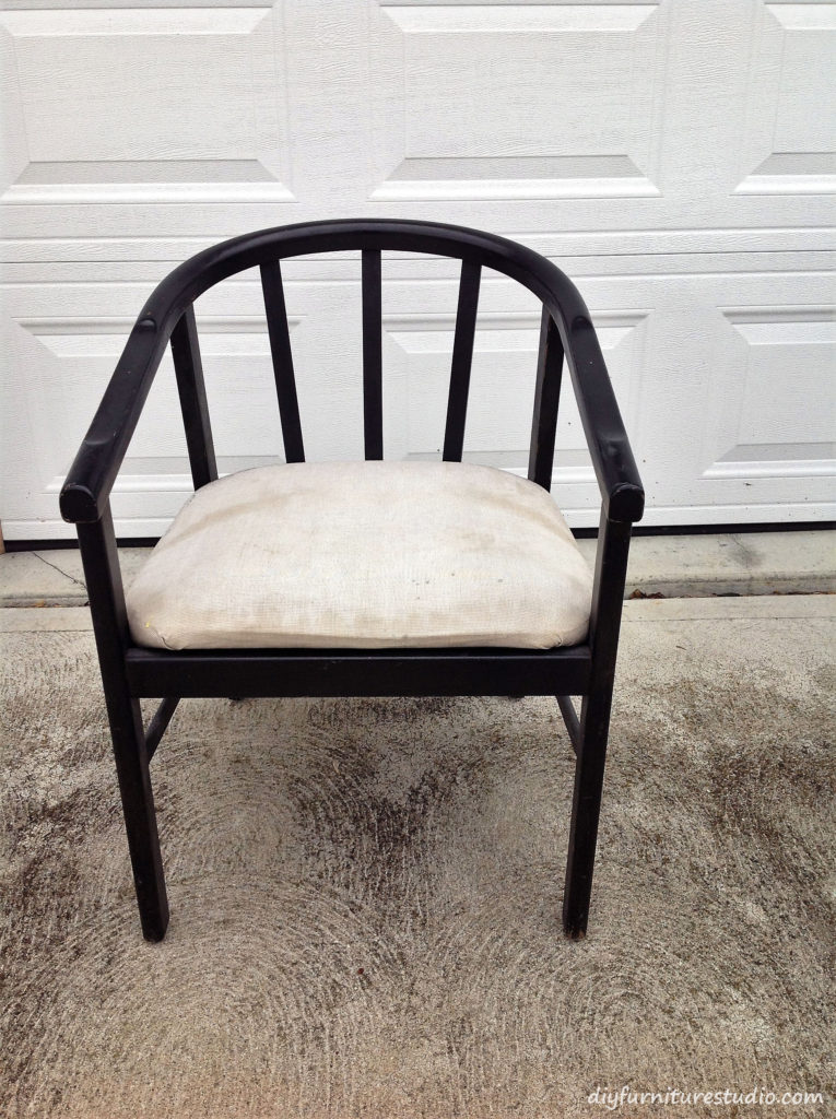 Chair before makeover.